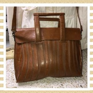 Handbags - Messenger Laptop Bag Brown Leather GOOD CONDITION